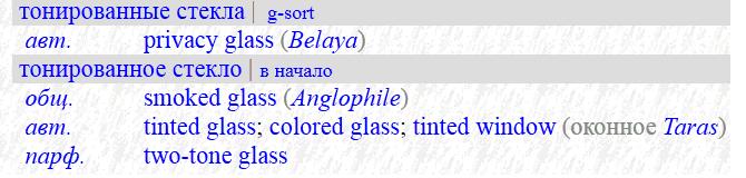 glass multi - как правильно выполнить перевод на английский язык